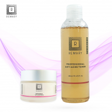 Set anti acnee profesional - Skin Care - Remary - 2 produse