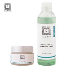 Set echilibrant și hidratant profesional pentru ten gras cu formula Equilibrium - Skin Care - Remary - 2 produse