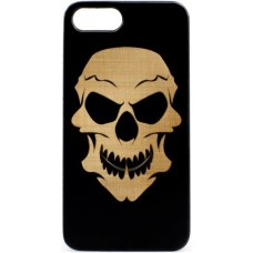 "Husa VINTAGE din lemn acacia pentru iPhone 7/8, pirogravura - Acacia wood vintage case for iPhone 7/8, phyrography ""Tribal Skull"""
