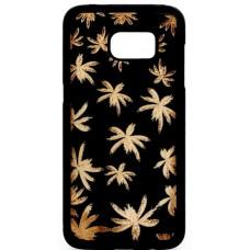 "Husa vintage din lemn acacia pentru Samsung Galaxy S7 Edge, pirogravura - Acacia wood vintage case for Samsung Galaxy S7 Edge, phyrography ""Maria leaves"""