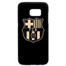 "Husa VINTAGE din lemn acacia pentru Samsung Galaxy S7, pirogravura - Acacia wood vintage case for Samsung Galaxy S7, phyrography ""Logo FC Barcelona"""