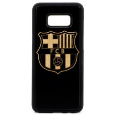 "Husa VINTAGE din lemn acacia pentru Samsung Galaxy S8, pirogravura - Acacia wood vintage case for Samsung Galaxy S8, phyrography ""Logo FC Barcelona"""