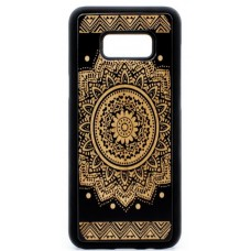 "Husa vintage din lemn acacia pentru Samsung Galaxy S8 Plus, pirogravura - Acacia wood vintage case for Samsung Galaxy S8 Plus, phyrography ""Oriental Mandala"""
