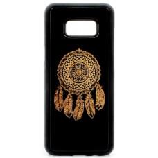 "Husa vintage din lemn acacia pentru Samsung Galaxy S8 Plus, pirogravura - Acacia wood vintage case for Samsung Galaxy S8 Plus, phyrography ""Talisman Dreamcatcher"""