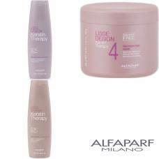 Kit sampon + balsam + masca - Lisse Design - Keratin Therapy - Alfaparf Milano - 3 produse