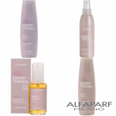 Pachet sampon + balsam + ulei + lapte - Lisse Design - Keratin Therapy - Alfaparf Milano - 4 produse
