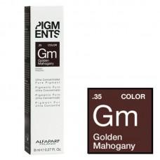 Pigment concentrat mahon auriu - .35 Golden Mahogany - Concentrated Pure Pigment - Alfaparf Milano - 8 ml
