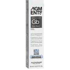 Pigment concentrat negru gri - Grey Black - Ultra Concentrated Pure Pigment - Alfaparf Milano - 8 ml