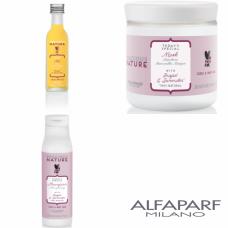 Kit mic hranitor pentru parul cret - Precious Nature - Curly And Wavy Hair - Alfaparf Milano - 3 produse