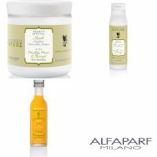Kit mic pentru parul lung si drept - Precious Nature - Long And Straight Hair - Alfaparf Milano - 3 produse