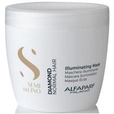Masca tratament de stralucire pentru par normal - Illuminating Mask - Semi Di Lino - Diamond - Alfaparf - 500 ml