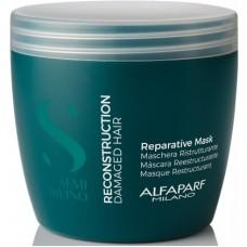 Masca de reconstructie pentru parul degradat - Reparative Mask - Semi Di Lino - Reconstruction - Alfaparf Milano - 500 ml