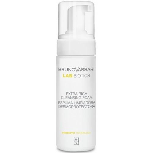 Spuma de curatare antibacteriana pentru ten - Extra Rich Cleansing Foam - Lab Biotics - Bruno Vassari - 150 ml