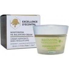 Crema hidratanta sebo-regulatoare - Moisturizing Oil Balancing Cream - Excellence D'Ecovital - Ecovital 50 ml