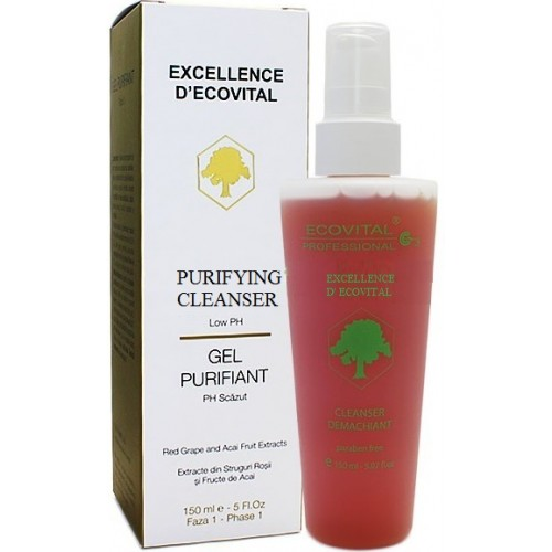 Gel purifiant fara parabeni - Purifying Cleanser - Excellence D' Ecovital - Ecovital - 150 ml