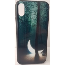 "Husa eleganta ultra-subtire de lux pentru iPhone X, patern - Luxury ultra-thin case for iPhone X, patern ""Half moon"""
