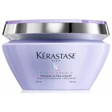 Masca de par pentru neutralizarea tonurilor de galben - Blond Absolu - Masque Ultra-Violet- Kerastase - 200 ml
