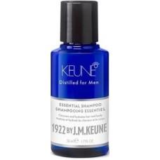 Sampon esential hidratant pentru par, barba si corp - Essential Shampoo - Distilled for Men - Keune - 50 ml
