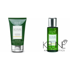 Kit mic hidratant pentru parul uscat - So Pure Moisturizing - Keune - 2 produse