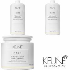 Kit mare pentru par degradat - Vital Nutrition - Keune - 3 produse