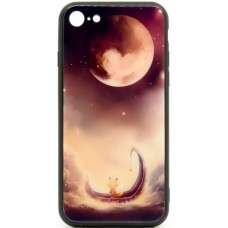 "Husa eleganta ultra-subtire de lux pentru iPhone 7/8, patern - Luxury ultra-thin case for iPhone 7/8, patern ""Lunatic Cat"""