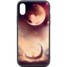 """Husa eleganta ultra-subtire de lux pentru iPhone X, patern - Luxury ultra-thin case for iPhone X, patern """"Lunatic Cat"""""""