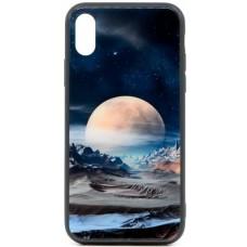 "Husa eleganta ultra-subtire de lux pentru iPhone X, patern - Luxury ultra-thin case for iPhone X, patern ""Silver Moon"""