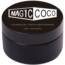 Pudra magica pentru albirea dintilor (100% naturala) - Charcoal Teeth Whitening Powder - Magic Coco - 30g