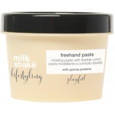 Crema modelatoare cu fixare medie pentru toate tipurile de par - Freehand Paste - Lifestyling - Milk Shake - 100 ml