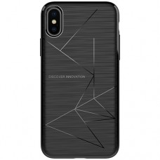 Husa magnetică din silicon mat anti amprentă - Magic Case for Apple IPhone X, black - Nillkin