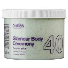 Scrub De Corp - 40 Pistachio Scrub - Glamour Body Ceremony - Purles - 500 ml