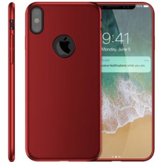 Husa ultra-subtire din fibra de carbon pentru iPhone X, Rosu - Ultra-thin carbon fiber case for iPhone X, Red