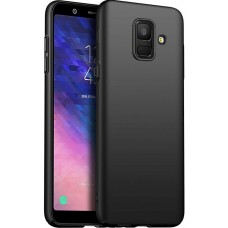 Husa ultra-subtire din fibra de carbon pentru Samsung Galaxy A6 (2018), Negru - Ultra-thin carbon fiber case for Samsung Galaxy A6 (2018), Black