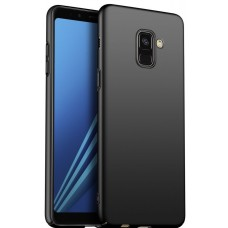 Husa ultra-subtire din fibra de carbon pentru Samsung Galaxy A8 (2018), Negru - Ultra-thin carbon fiber case for Samsung Galaxy A8 (2018), Black