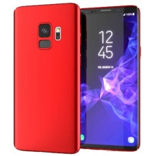Husa ultra-subtire din fibra de carbon pentru Samsung Galaxy S9, Rosu - Ultra-thin carbon fiber case for Samsung Galaxy S9, Red