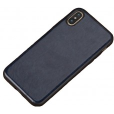 Carcasa subtire din piele lucrata manual pentru Iphone 6/6S Plus, Albastru - Ultra-thin leather skin handmade case for iPhone 6/6S Plus, Dark Blue