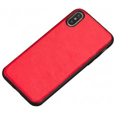 Carcasa subtire din piele lucrata manual pentru Iphone 6/6S Plus, Rosu intens - Ultra-thin leather skin handmade case for iPhone 6/6S Plus, Intens Red