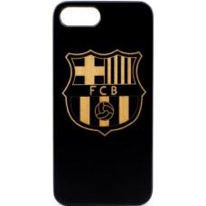 Husa VINTAGE din lemn acacia pentru Iphone 7/8 Plus, pirogravura - Vintage acacia wood case for Iphone 7/8 Plus, pyrograhy FC Barselona