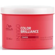 Masca-tratament pentru parul gros vopsit - Vibrant Color Mask - Coarse - Invigo Brilliance - Wella - 500 ml