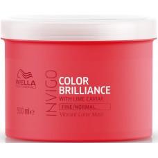 Masca-tratament pentru parul fin vopsit - Vibrant Color Mask - Fine - Invigo Brilliance - Wella - 500 ml