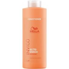 Balsam hidratant pentru par deteriorat - Conditioner - Invigo Nutri Enrich - Wella - 1000 ml